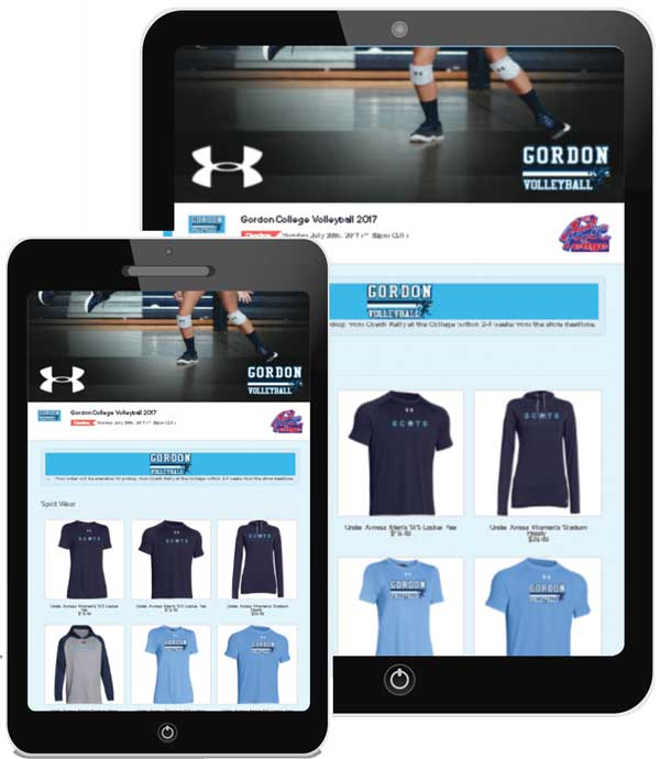 Mobile Friendly Team Stores