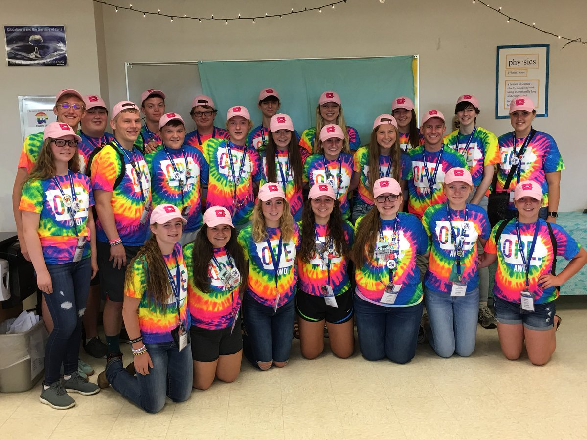 Iowa Association of Student Council Tie-Dye Tees and Embroidered Caps